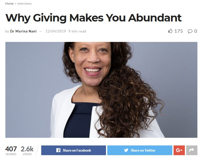 Why Giving Makes You Abundant - an interview with Jenny Garrett