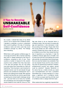 Page of Her Story Matters Magazine on Confidence