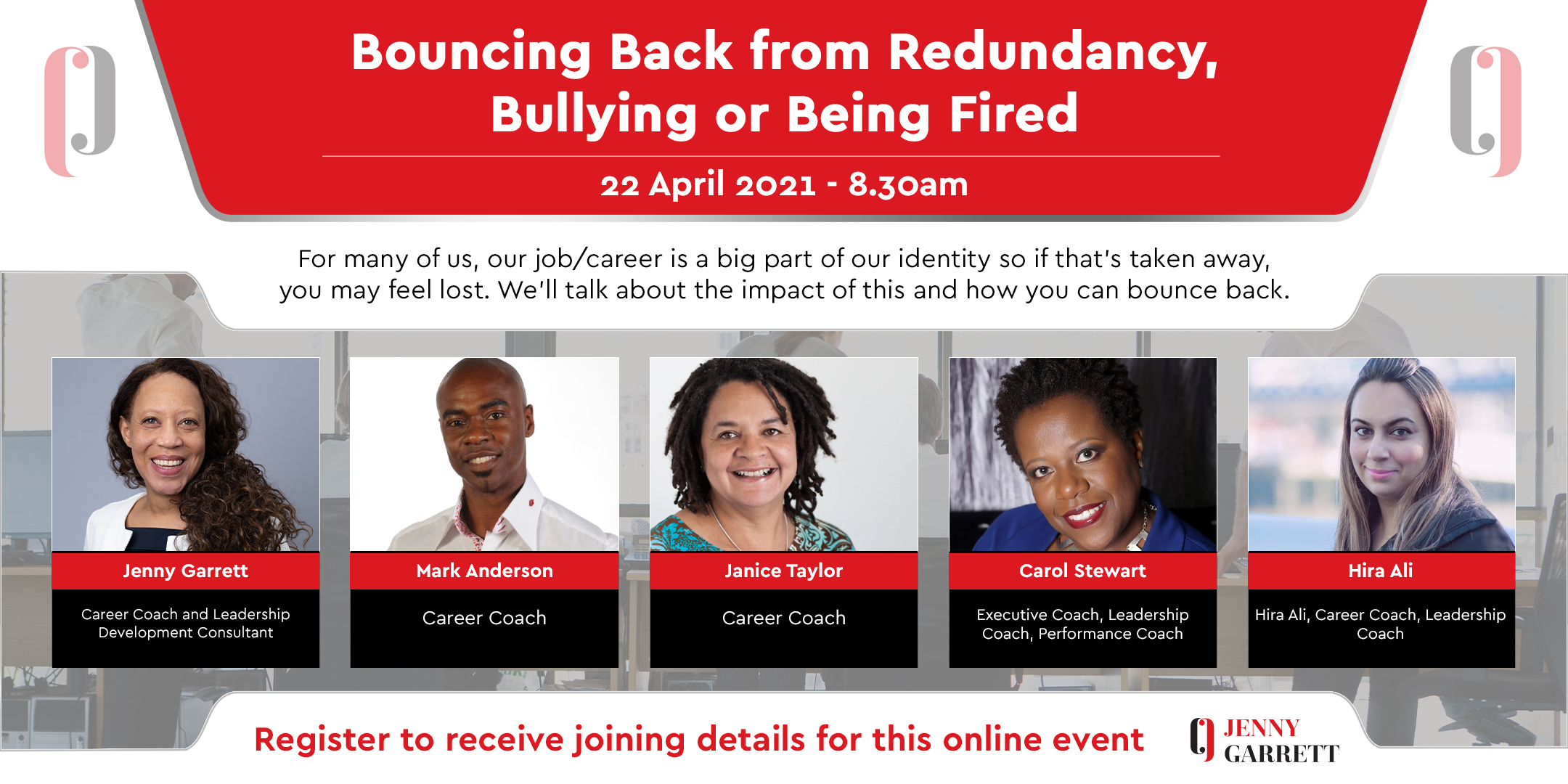 Bouncing Back from Redundancy, Bullying or Being Fired