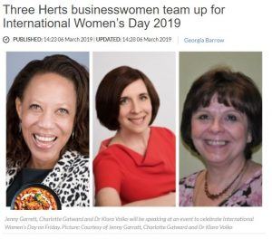 The Comet: Three Herts businesswomen team up for International Women's Day 2019
