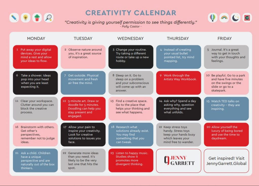 23 Ideas to Spark your Creativity