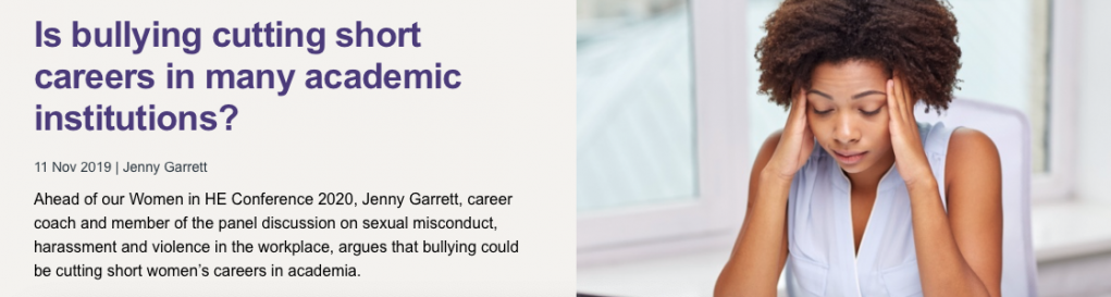 Is bullying cutting short careers? - Jenny Garrett